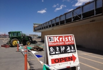 Kristi Mountain Sports (July 2012) Mother Nature got upset and tore the front of our building off...